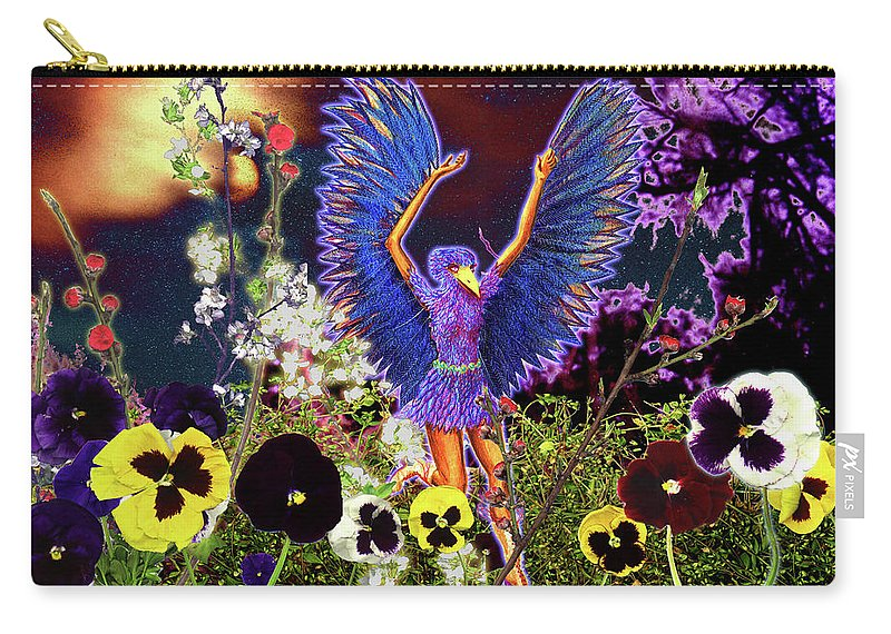 Spiritual Carry-all Pouch featuring the painting Spirit Guide by Miko At The Love Art Shop