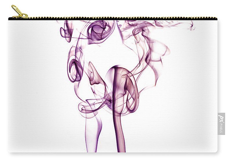 Smoke Carry-all Pouch featuring the photograph Ghostly Smoke - Magenta by Nick Bywater