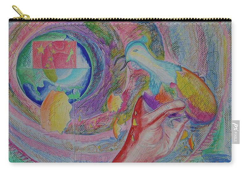 Johnpowellpaintings Carry-all Pouch featuring the painting Spirit Of Piece by John Powell