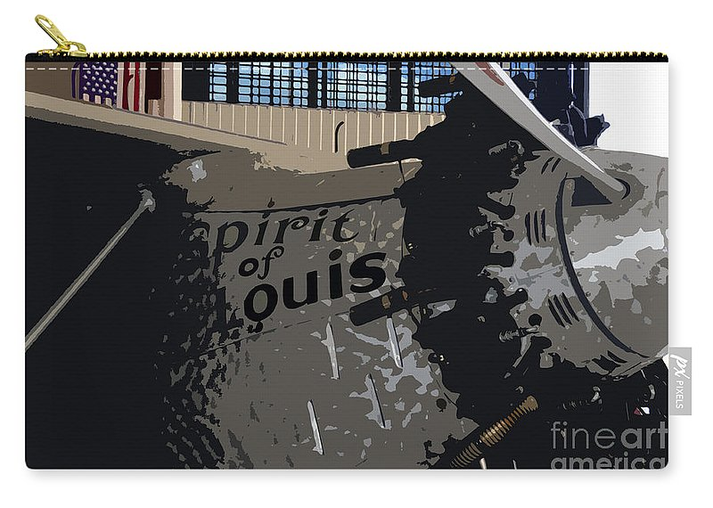Spirit Of Saint Louis Carry-all Pouch featuring the painting Spirit Of Saint Louis by David Lee Thompson