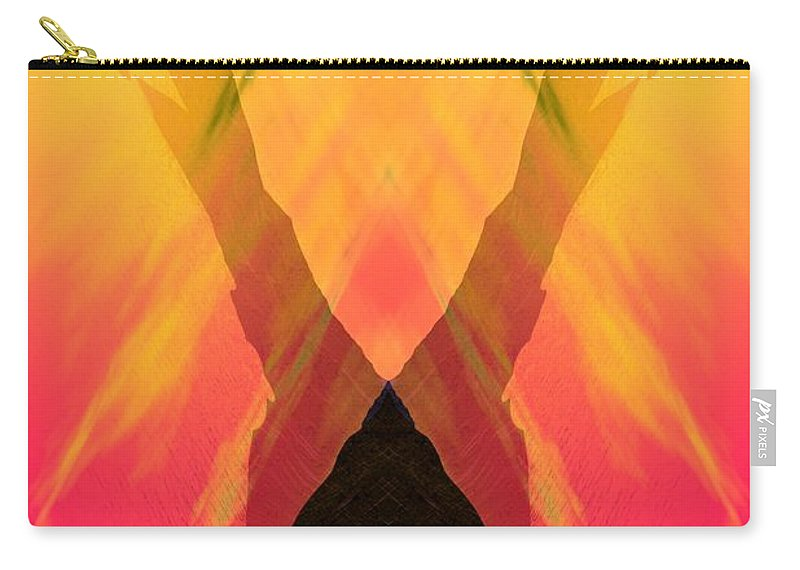 Carry-all Pouch featuring the digital art Spirit Of The Mountain by David Lane