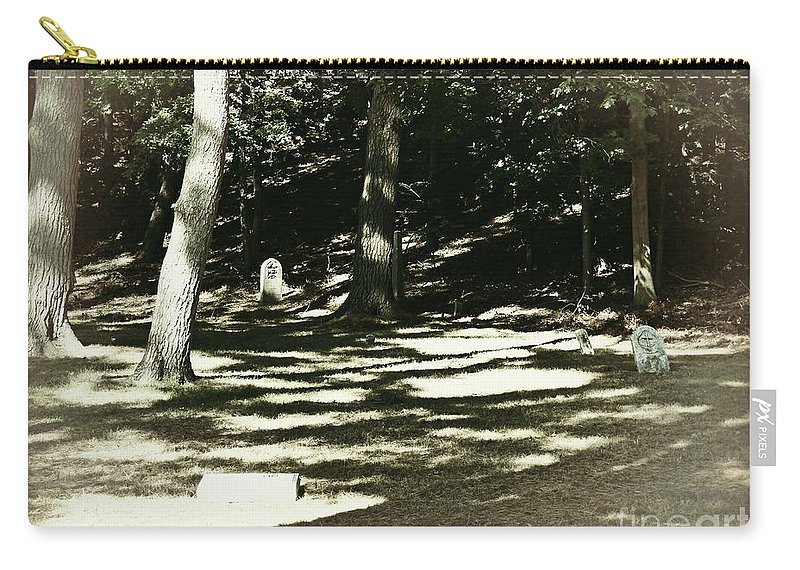 Cemetery Carry-all Pouch featuring the photograph Spirit Of The Night by Scott Ward