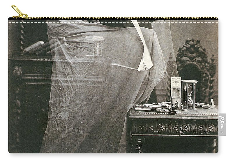 1863 Carry-all Pouch featuring the photograph Spirit Photograph, 1863 by Granger