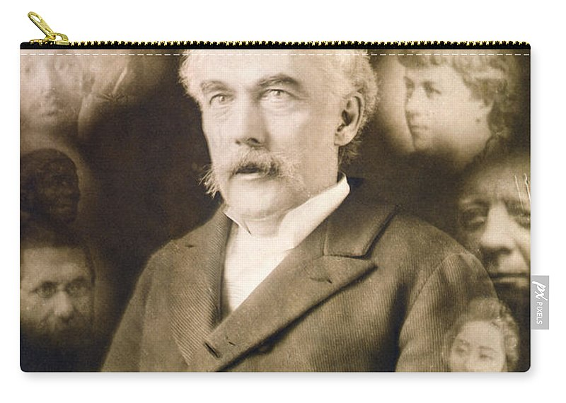 1901 Carry-all Pouch featuring the photograph Spirit Photograph, C1901 by Granger