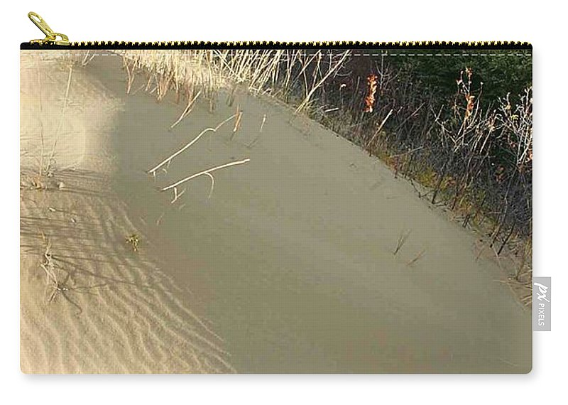 Spirit Sands Carry-all Pouch featuring the photograph Spirit Sands - Late Day by Nelson Strong