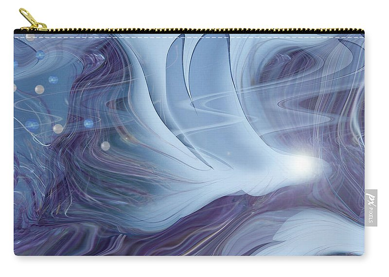 Abstract Carry-all Pouch featuring the digital art Spirit World by Linda Sannuti