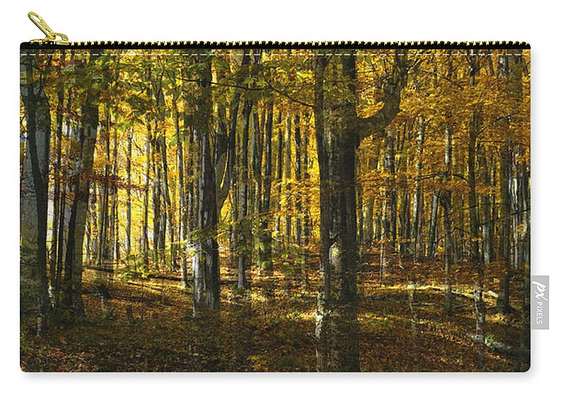 Woods Carry-all Pouch featuring the photograph Spirits In The Woods by Tim Nyberg