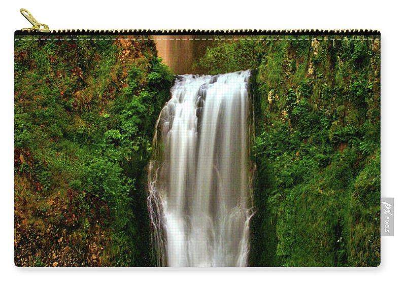 Spiritual Carry-all Pouch featuring the photograph Spiritual Falls by Scott Mahon
