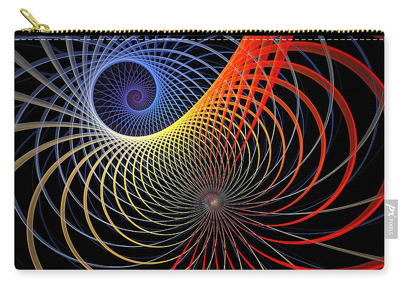 Digital Art Carry-all Pouch featuring the digital art Spirograph by Amanda Moore