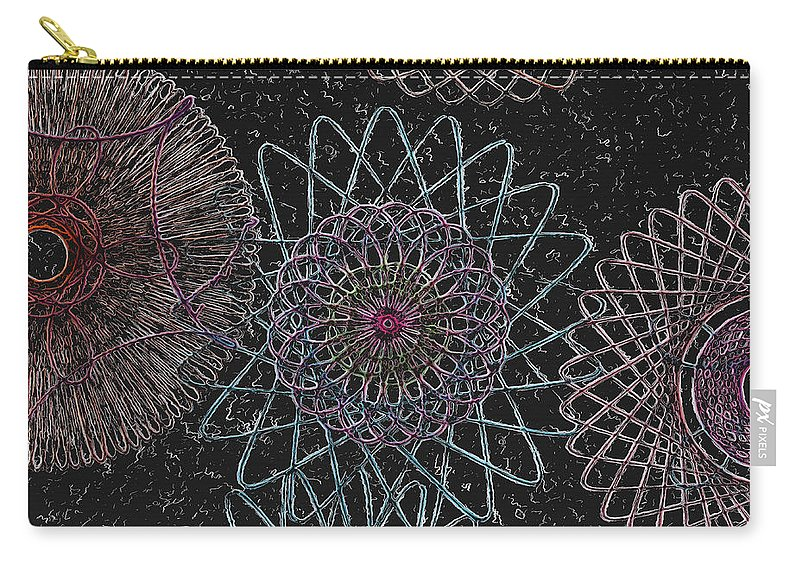 Spirograph Carry-all Pouch featuring the photograph Spirograph 1010 by Modern Art