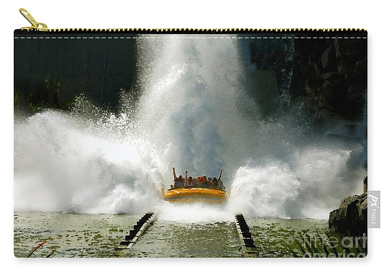 Universal Studios Carry-all Pouch featuring the photograph Splash Down by David Lee Thompson