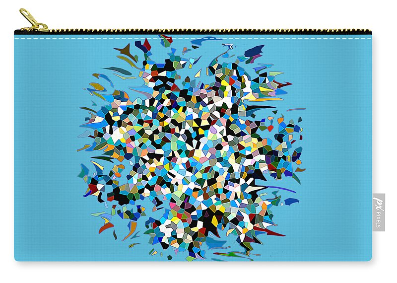 Abstract Carry-all Pouch featuring the digital art Splash by Eleni Mac Synodinos