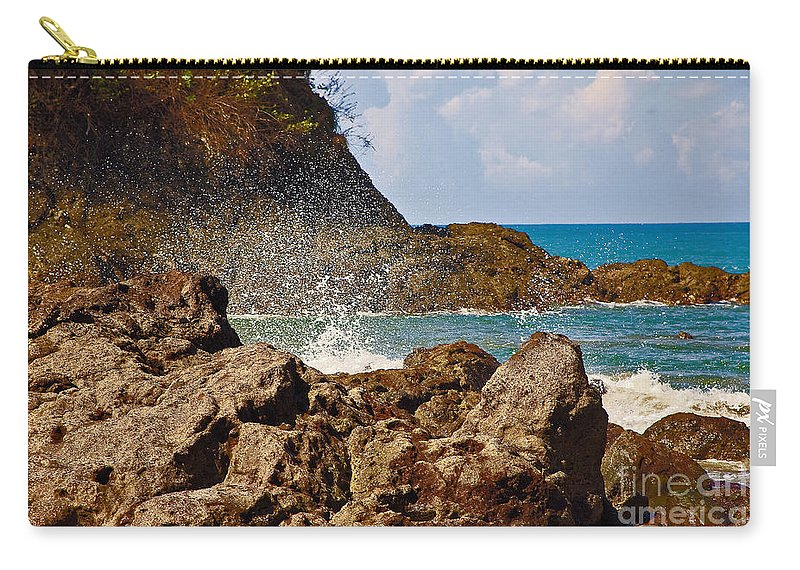 Sea Carry-all Pouch featuring the photograph Splash by Madeline Ellis