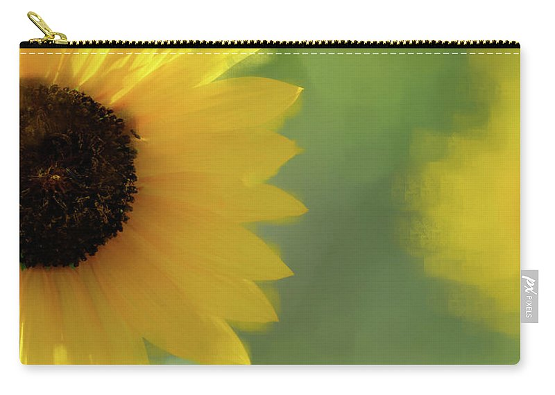 Sunflower Carry-all Pouch featuring the photograph Splash Of Yellow by Betty LaRue