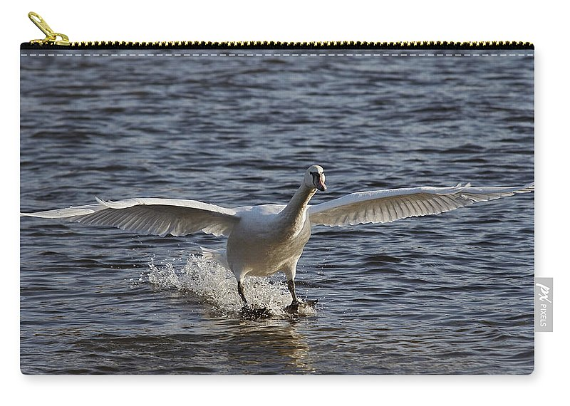 Nature Carry-all Pouch featuring the photograph Splashdown - Water Skiing by Michal Boubin
