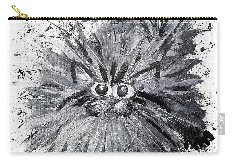 Cat Carry-all Pouch featuring the painting Splat Cat by Baron Dixon