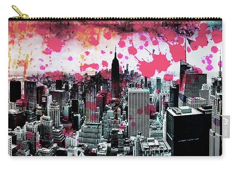 Empire State Building Carry-all Pouch featuring the photograph Splatter Pop by Az Jackson