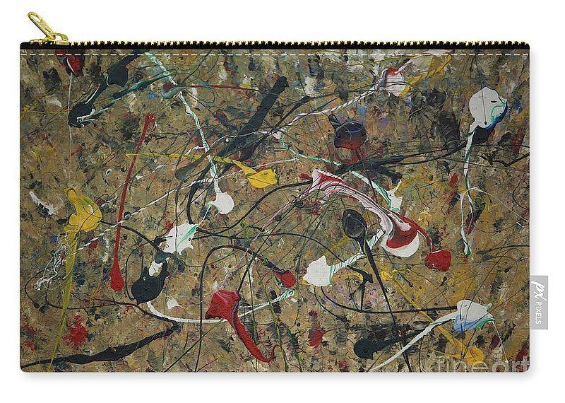 Abstract Carry-all Pouch featuring the painting Splattered by Jacqueline Athmann