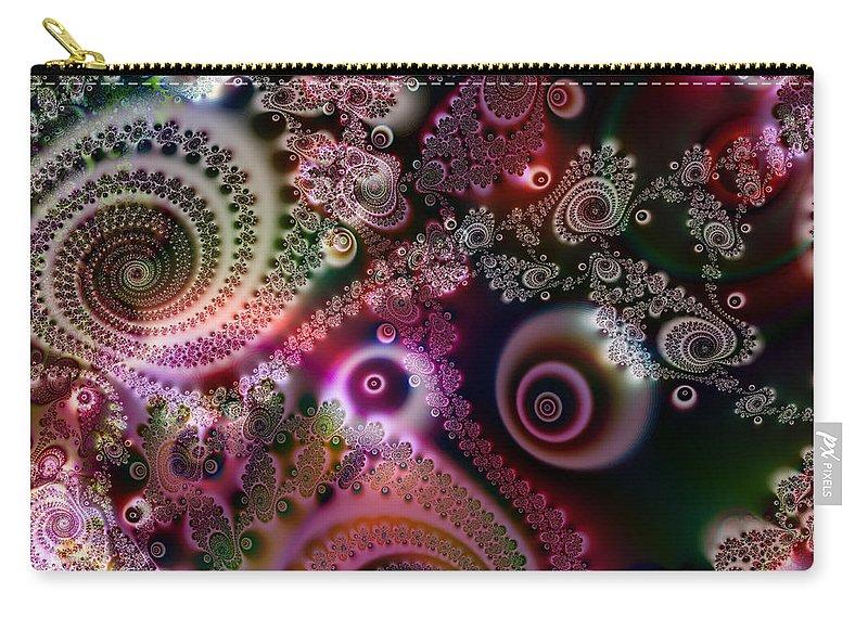 Art Carry-all Pouch featuring the digital art Splendor by Candice Danielle Hughes