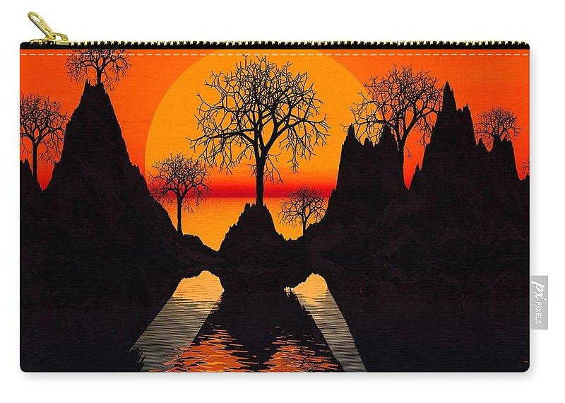 Trees Carry-all Pouch featuring the digital art Splintered Sunlight by Robert Orinski