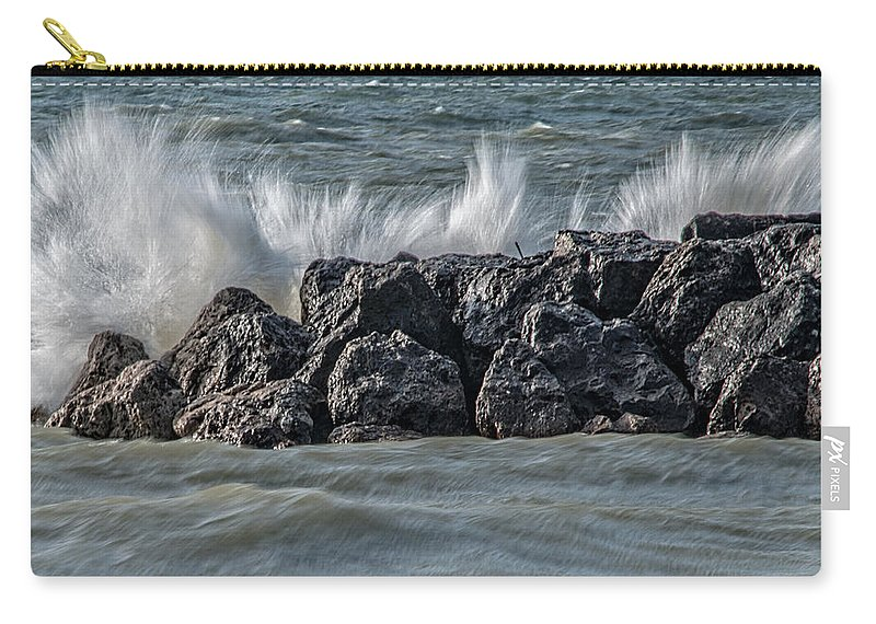 Blue Carry-all Pouch featuring the photograph Splish Splash by Gaby Swanson