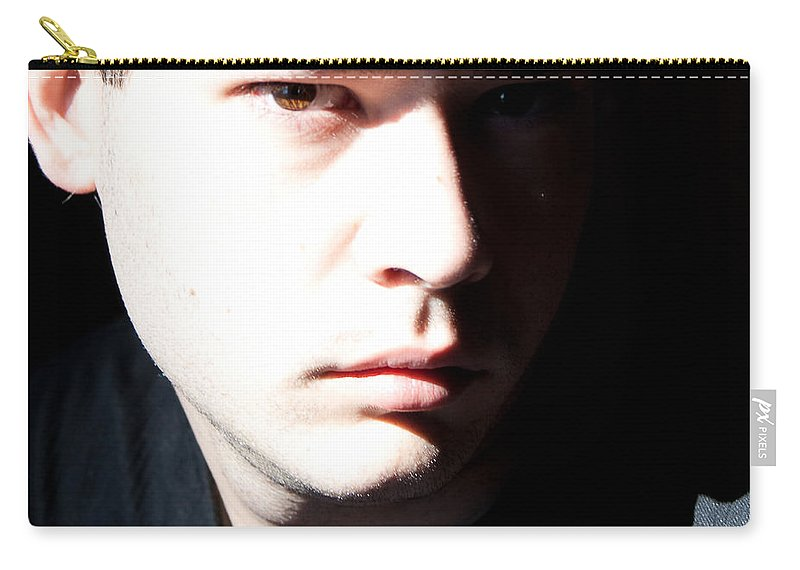 Josh Elliott Carry-all Pouch featuring the photograph Split Face by Angus Hooper Iii