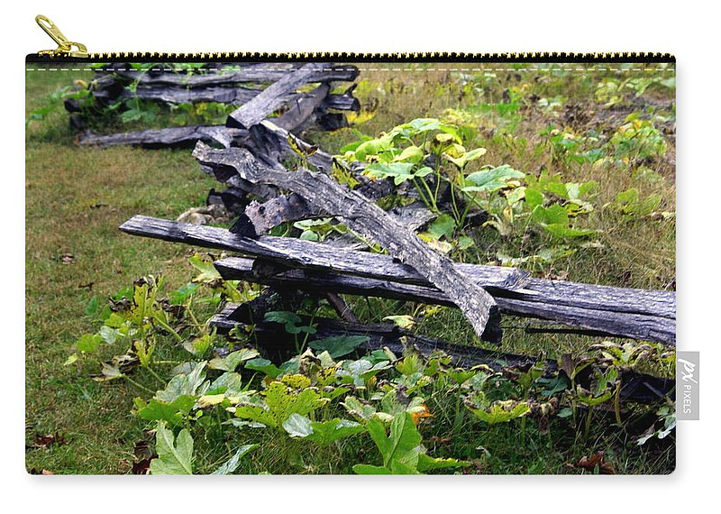 Landscape Carry-all Pouch featuring the photograph Split Rail by Marty Koch