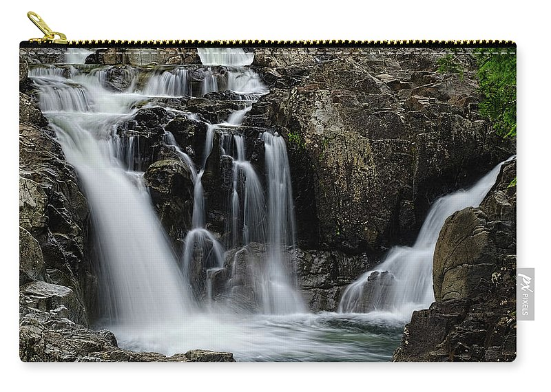 Split Rock Falls Carry-all Pouch featuring the photograph Split Rocks Falls 2 by Tony Beaver