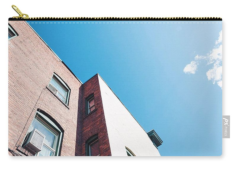 Architecture Carry-all Pouch featuring the photograph Spokane Brick Buildings 3 by Patrick Herbert