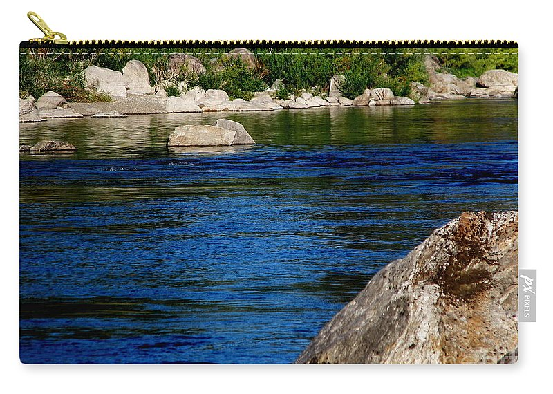 Patzer Carry-all Pouch featuring the photograph Spokane River by Greg Patzer