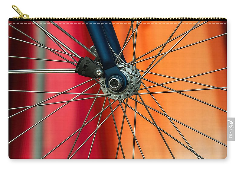 Spokes Carry-all Pouch featuring the photograph Spokes by Susie Peek