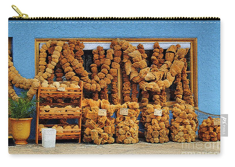 Sponges Carry-all Pouch featuring the photograph Sponges For Sale by Jost Houk