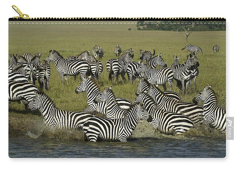 Africa Carry-all Pouch featuring the photograph Spooked by Michele Burgess