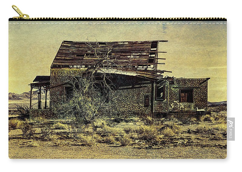 Ludlow Carry-all Pouch featuring the digital art Spooky Broken House by Stevie Benintende