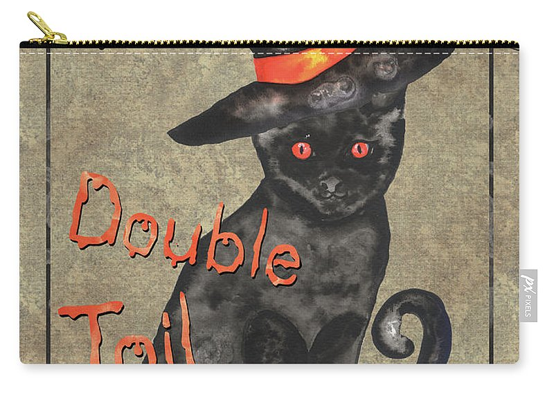 Hat Carry-all Pouch featuring the painting Spooky Pumpkin 3 by Debbie DeWitt