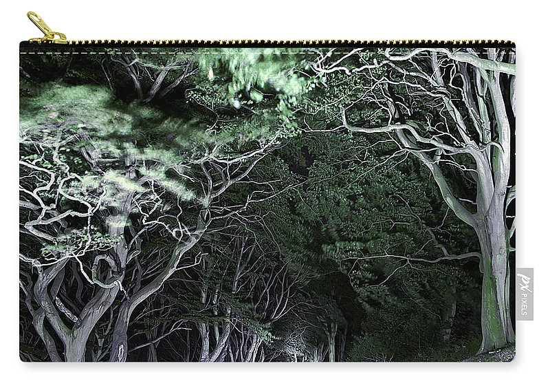 Botanic Carry-all Pouch featuring the photograph Spooky Trees by Svetlana Sewell
