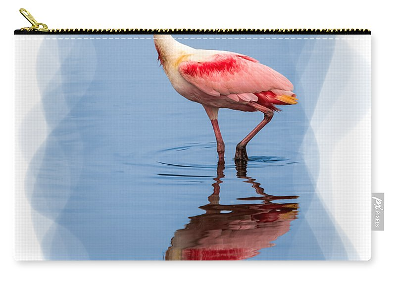 Animals Carry-all Pouch featuring the photograph Spoonbill 3 by John M Bailey