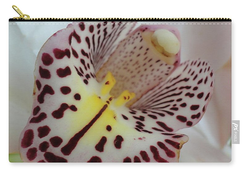 Orchid Carry-all Pouch featuring the photograph Spotted Slide by Trish Hale