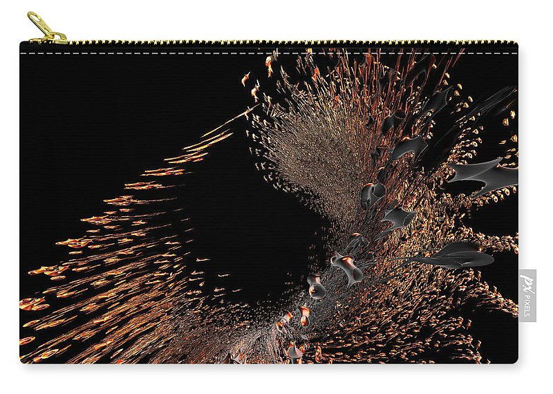 Incendia Carry-all Pouch featuring the digital art Spray Of Gold by Deborah Benoit