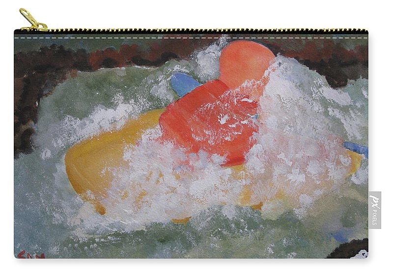 Water Carry-all Pouch featuring the painting Spray by Sandy McIntire
