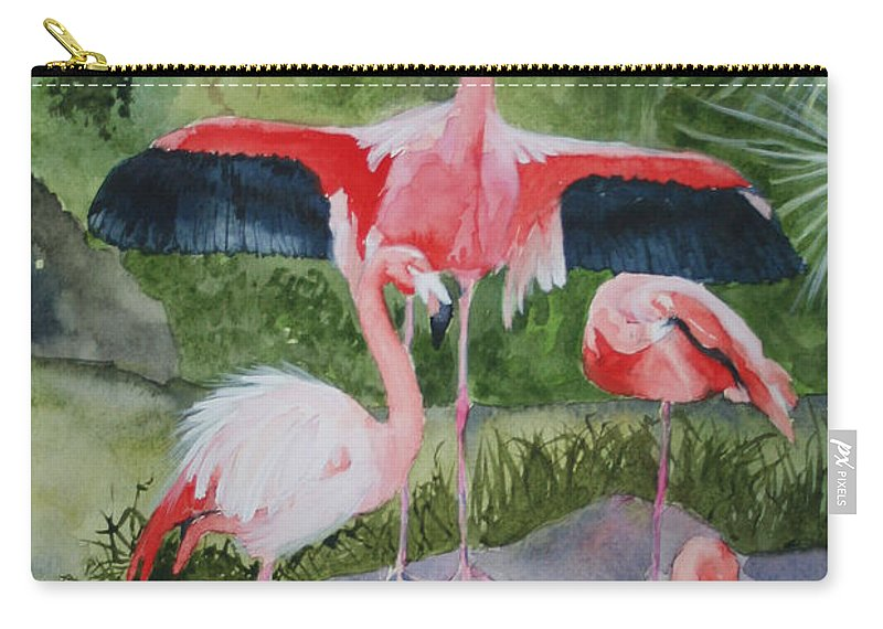 Wings Carry-all Pouch featuring the painting Spreading My Wings by Jean Blackmer