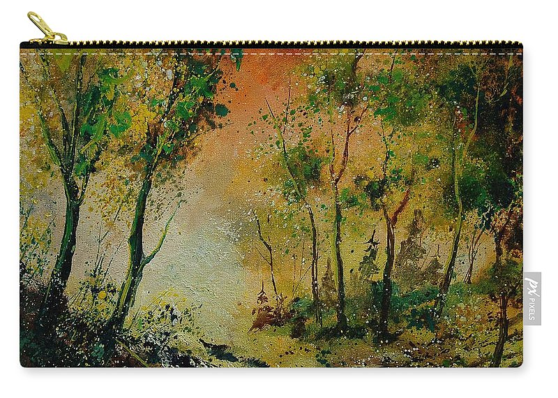 Spring Carry-all Pouch featuring the painting Sprin In Wood 45 by Pol Ledent
