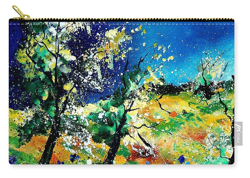 Tree Carry-all Pouch featuring the painting Spring 56 by Pol Ledent