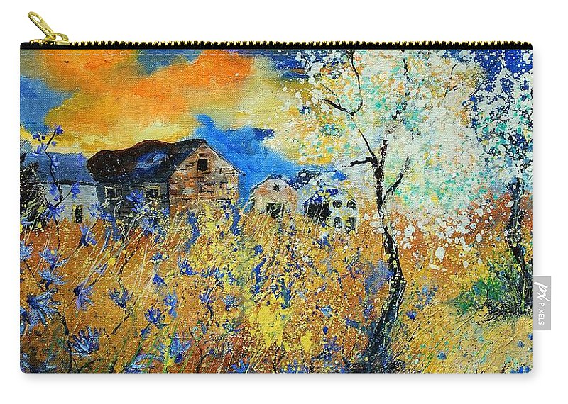 Flowers Carry-all Pouch featuring the painting Spring 67 by Pol Ledent