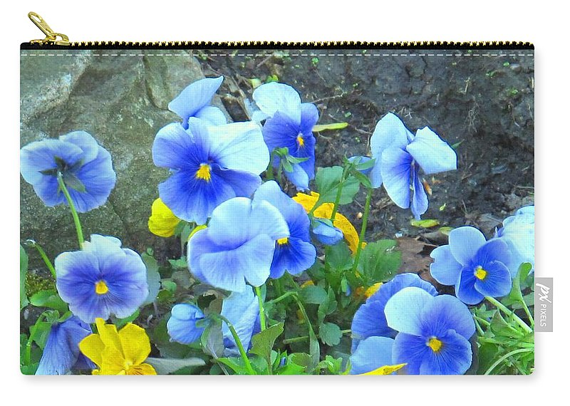 Blue Carry-all Pouch featuring the photograph Spring Beauties by Ian MacDonald