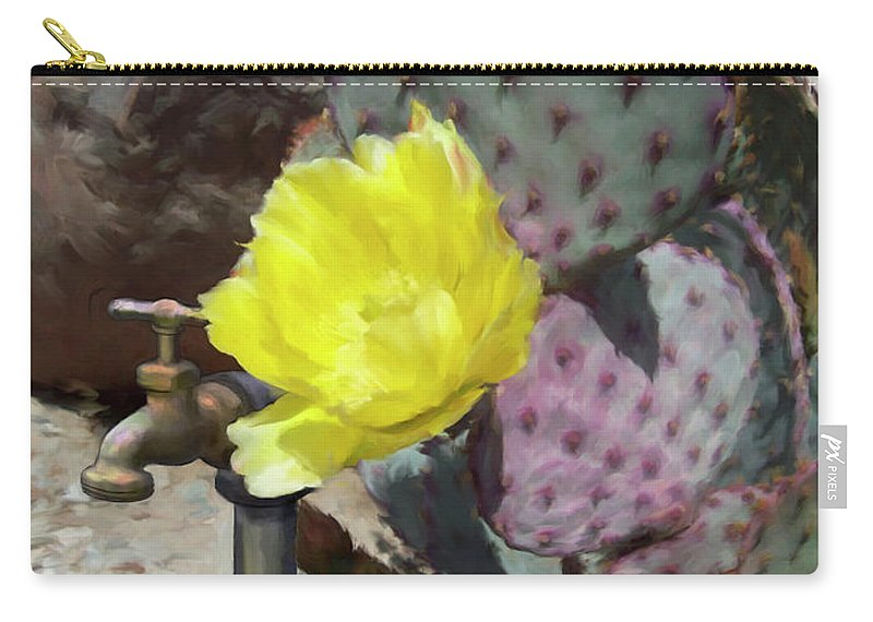 Cactus Carry-all Pouch featuring the digital art Spring Bloom by Snake Jagger