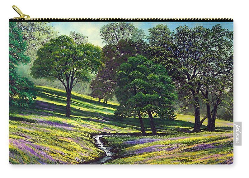 Landscape Carry-all Pouch featuring the painting Spring Bloom Table Mountain by Frank Wilson