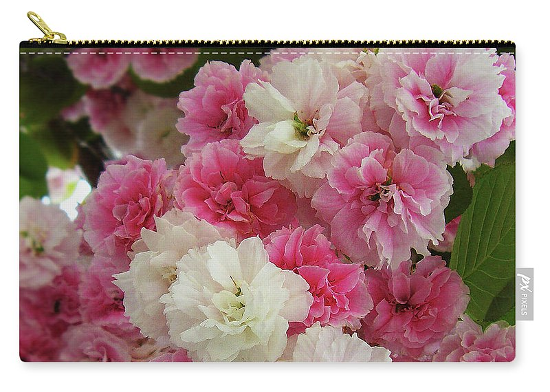Pink Flowers Carry-all Pouch featuring the photograph Spring Blossom 3 by Xueling Zou