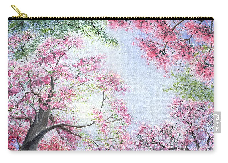 Tree Blossoms Carry-all Pouch featuring the painting Spring Blossoms by Lynn Quinn