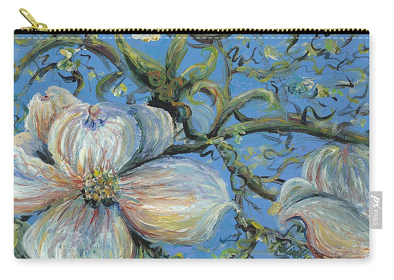 Flower Carry-all Pouch featuring the painting Spring Blossoms by Nadine Rippelmeyer
